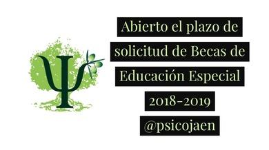 ABIERTO EL PLAZO DE SOLICITUD PARA LAS BECAS DE EDUCACIÓN ESPECIAL PARA EL CURSO 2018-2019