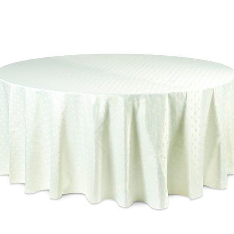 Mantel redondo crema: Alquiler de Mantelería & Menaje