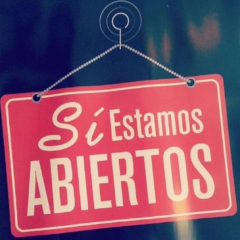 ABRIMOS EL LUNES 4 DE MAYO. CON CITA PREVIA.