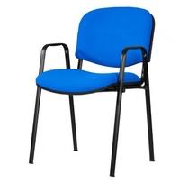 sillon fijo con brazos mod. 501 tapizado en tela de color azul electrico