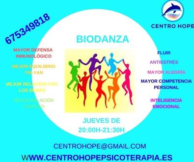 Biodanza, los Jueves de 20:00h a 21:30h