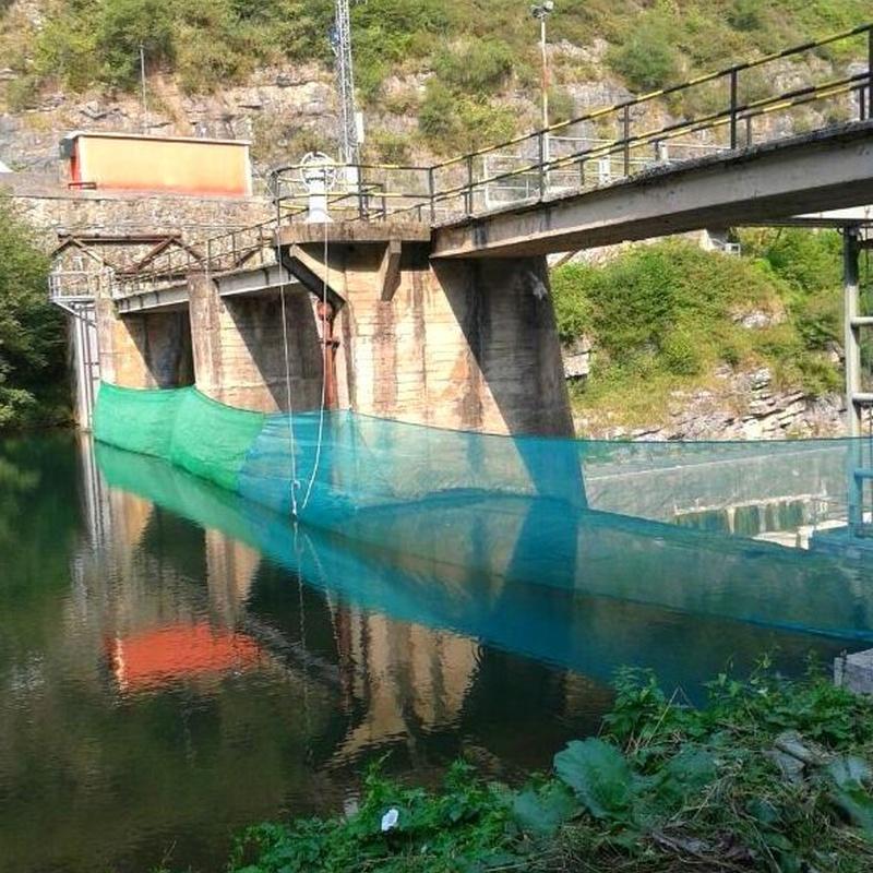 Trabajos verticales en embalses de  Cantabria