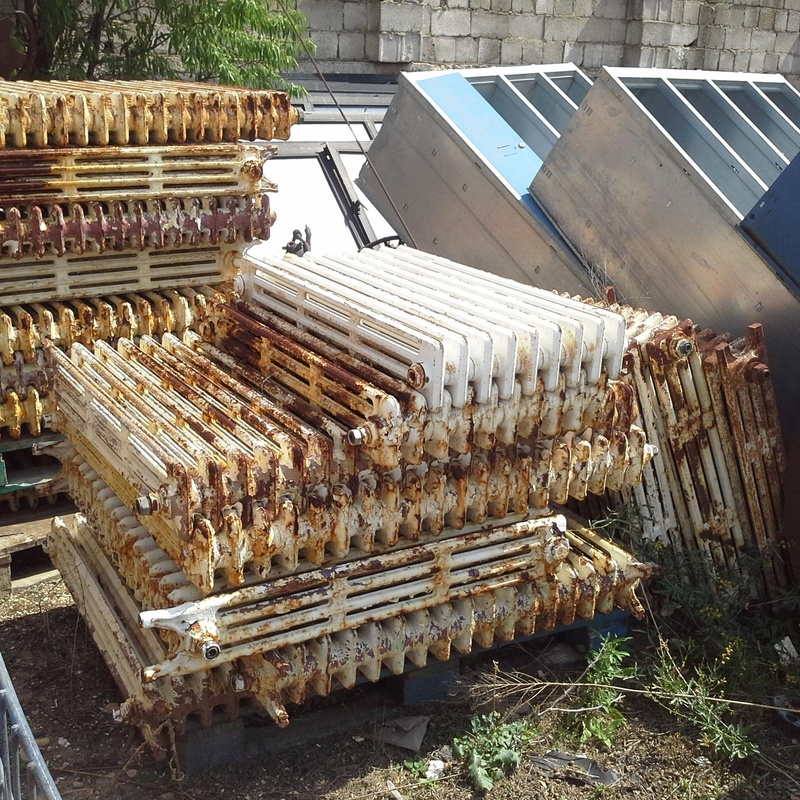 Radiadores de hierro fundido en Chatarras Clemente de Albacete