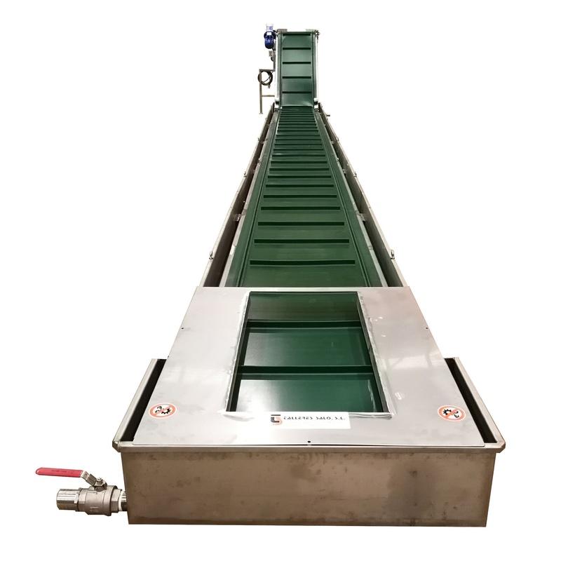 Cinta Transportadora Inox  PVC inundada para enfriamiento