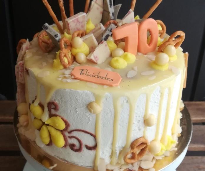 drip cake chocolae blanco