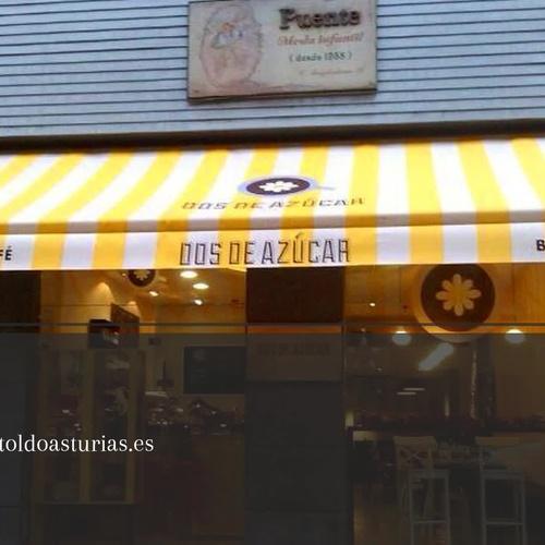 Toldos para terrazas en Gijón | Toldos Blanco