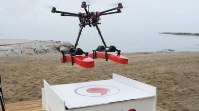 Vodafone realiza un piloto con drones 4G en Moià para establecer el modelo de cobertura aérea