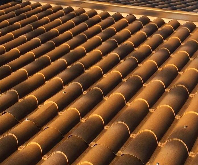 panel imitación teja
