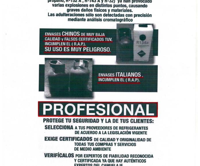 ATENCION ATENCION GASES INFLAMABLES  EL LAS CARGAS DE AIRE ACONDICIONADO DE LOW COST