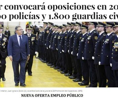 EL MINISTRO DE INTERIOR ANUNCIA 3.000 PLAZAS POLICÍA NACIONAL 2017
