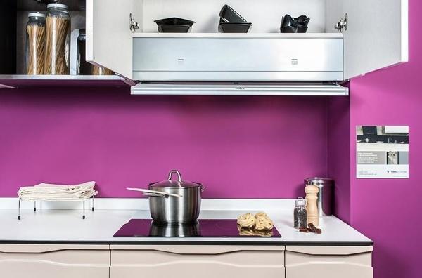 Cocina Delta mod. Sena, Ibiza & Tudela - Detalle del extractor integrado en mueble.