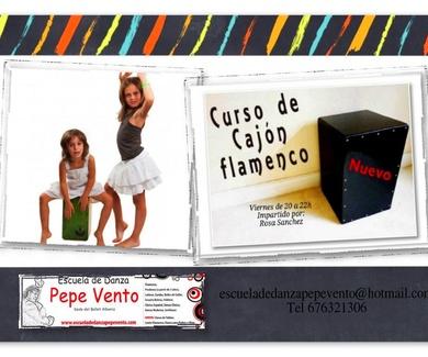 Nuevas Clases de Cajón Flamenco en Alcalá de Henares - Escuela de Danza Pepe Vento