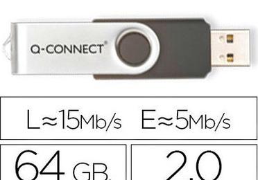 MEMORIA USB Q-CONNECT FLASH 64 GB 2.0