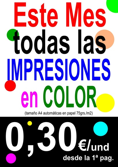 OFERTA FOTOCOPIAS COLOR
