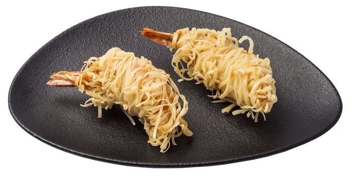 Langostino frito con salsa Tonkatsu (2 u.)  3,50€: Carta de Restaurante Sowu