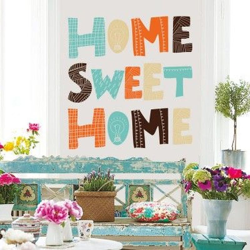Wall sticker vinilo decorativo Sweet Home en Barcelona