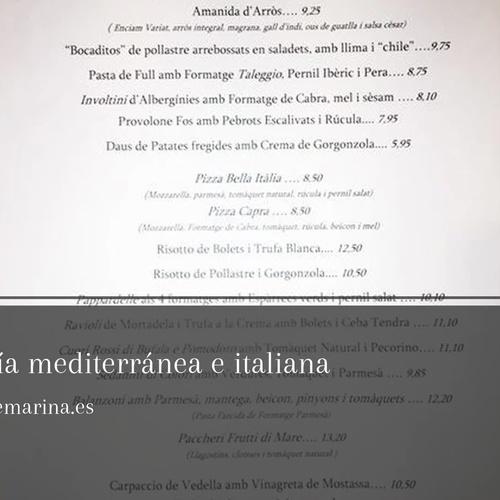 Dónde comer en Calella | Restaurante Marina