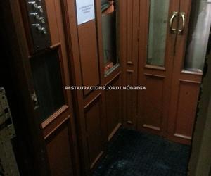 Restauración cabinas de ascensor en Barcelona. Restauracións Jordi Nóbrega