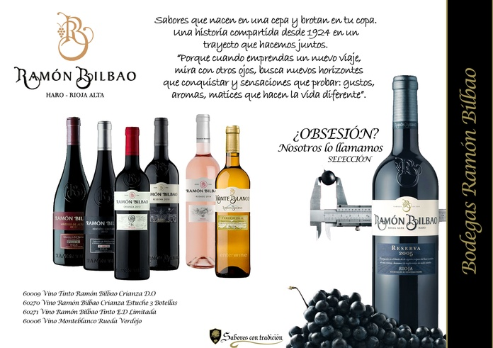 """Vinos """" Ramón Bilbao """": Productos de Sabores con tradición"""
