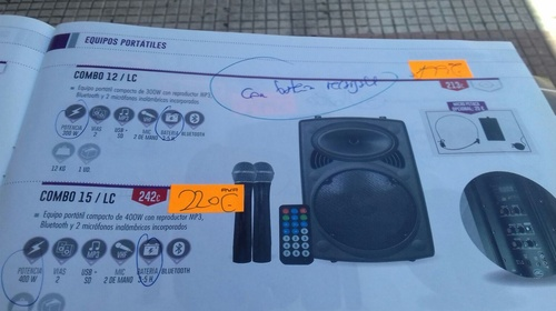 Altavoces amplificados especial fiestas y peñas.Bluetooth, batería Hasta 5h y luz micrófonos y mando  entrega gratis en los pueblos Guadalajara