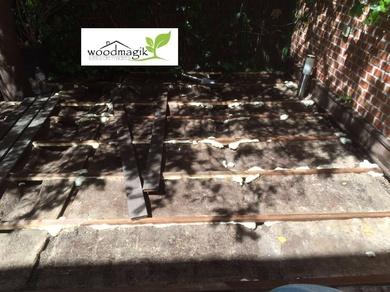 Restauración de tarima de exterior en Aravaca