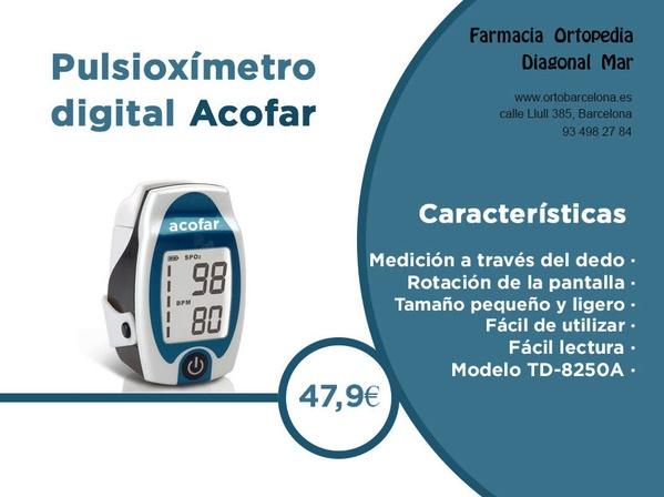 Pulsioxímetro digital Acofar bcn