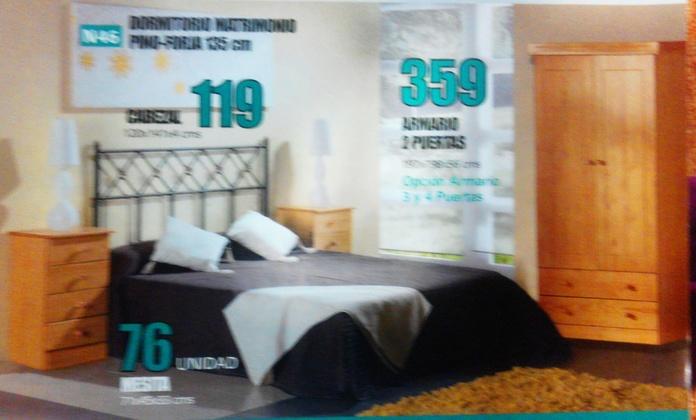 dormitorio pino-forja mod.46: Productos  de Muebles Llueca, S. L.