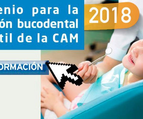 Convenio atención bucodental infantil 2018 CAM