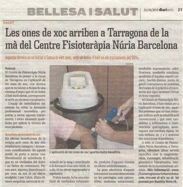 Ondas de choque: Servicios de Fisioterapia Núria Barcelona