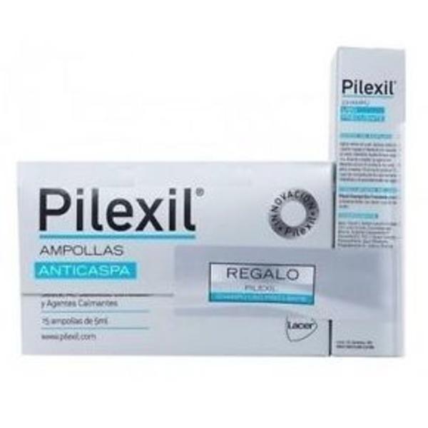 Pilexil Ampollas anticaspa 15 amp + Champu uso frecuente de regalo: Catálogo de Farmacia Las Cuevas-Mª Carmen Leyes