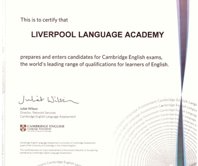 LIVERPOOL LANGUAGE ACADEMY     Exam Preparation Centre