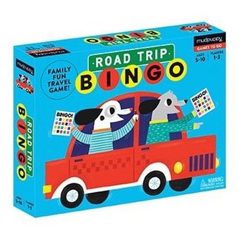 Bingo de viaje por carretera. Road Trip BINGO. Mudpuppy