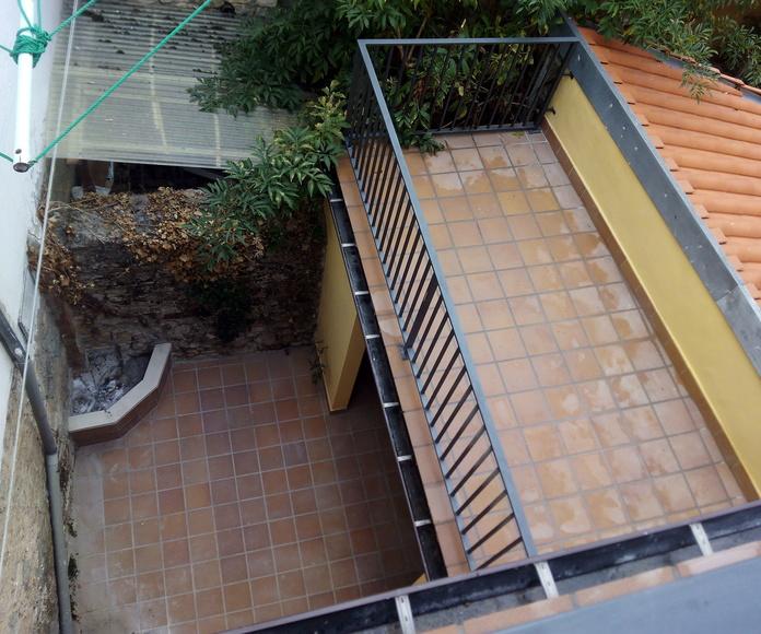 Terraza y patio interior