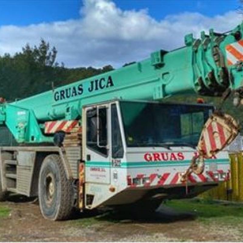 Grúas autopropulsadas: Servicios de Grúas Jica Camuco, S.L.