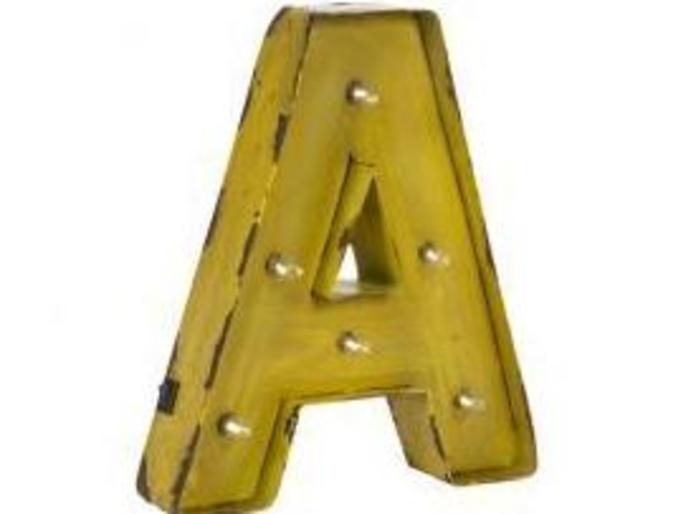 Letras con luces A