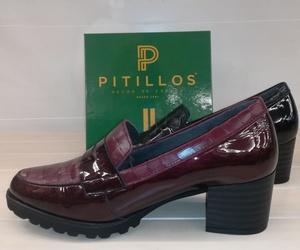 Zapatos a dos texturas/colores