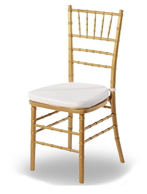 Alquiler de silla Tiffany dorada en Asturias.