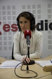"""Programa de radio """"Es Sexo"""", junto a Ayanta Barilli."""