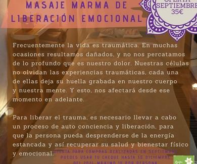 Masaje Marma de liberación emocional