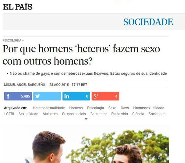 Colaboración en El País, en su edición para Brasil