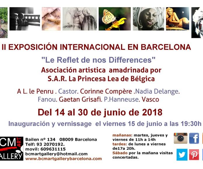 """II Exposición Internacional """"Le Reflet de nos Differences"""": Exposiciones y artistas  de BCM Art Gallery"""