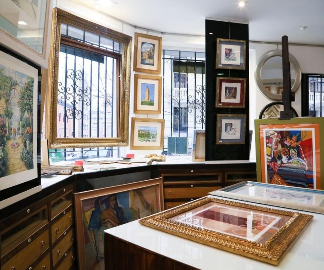 La enmarcación para conservar cuadros