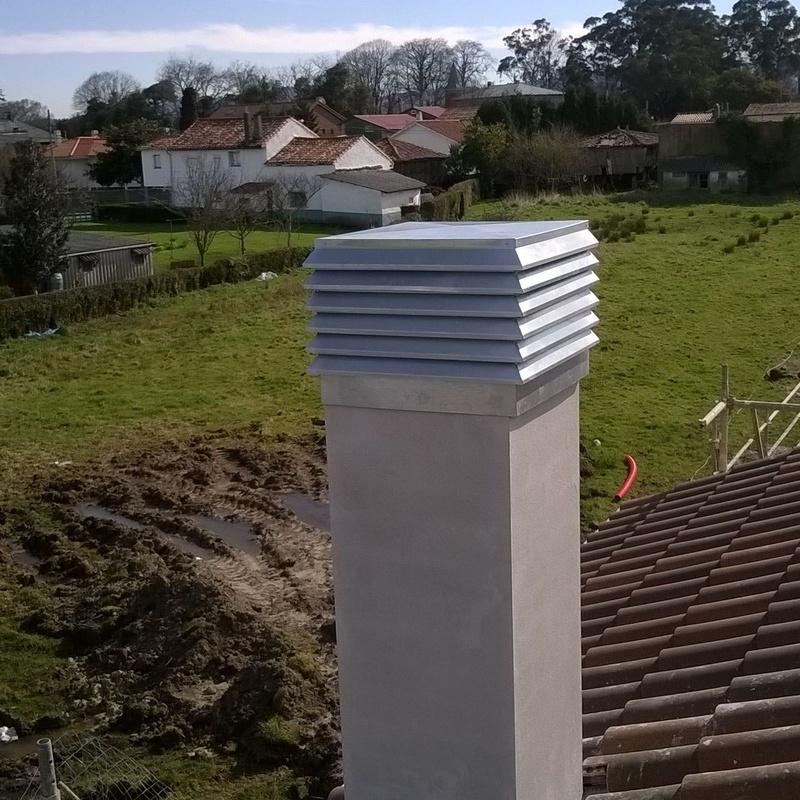 chimenea con aspirador de lamas en Asturias