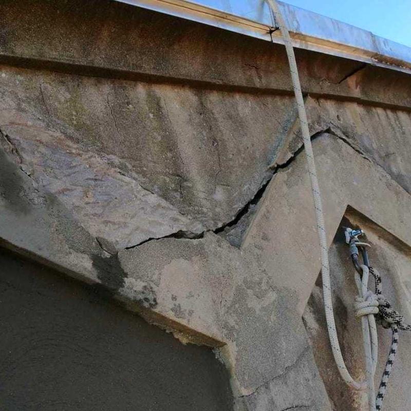 reparación de grietas en fachada