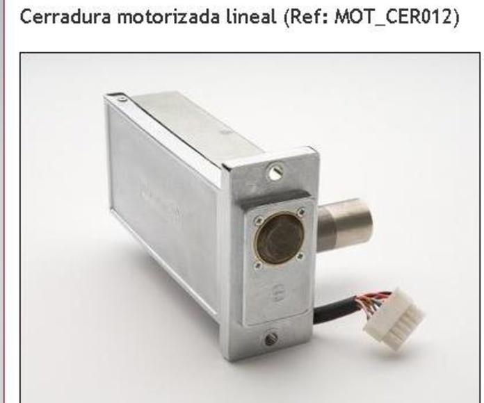 Cerraduras eléctricas motorizadas