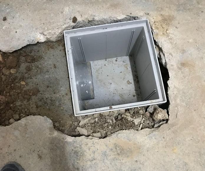Canalizaciones de desagües generales de aguas fecales: Servicios de Fachadas Monzón
