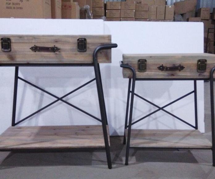 Decoracion en metal y madera