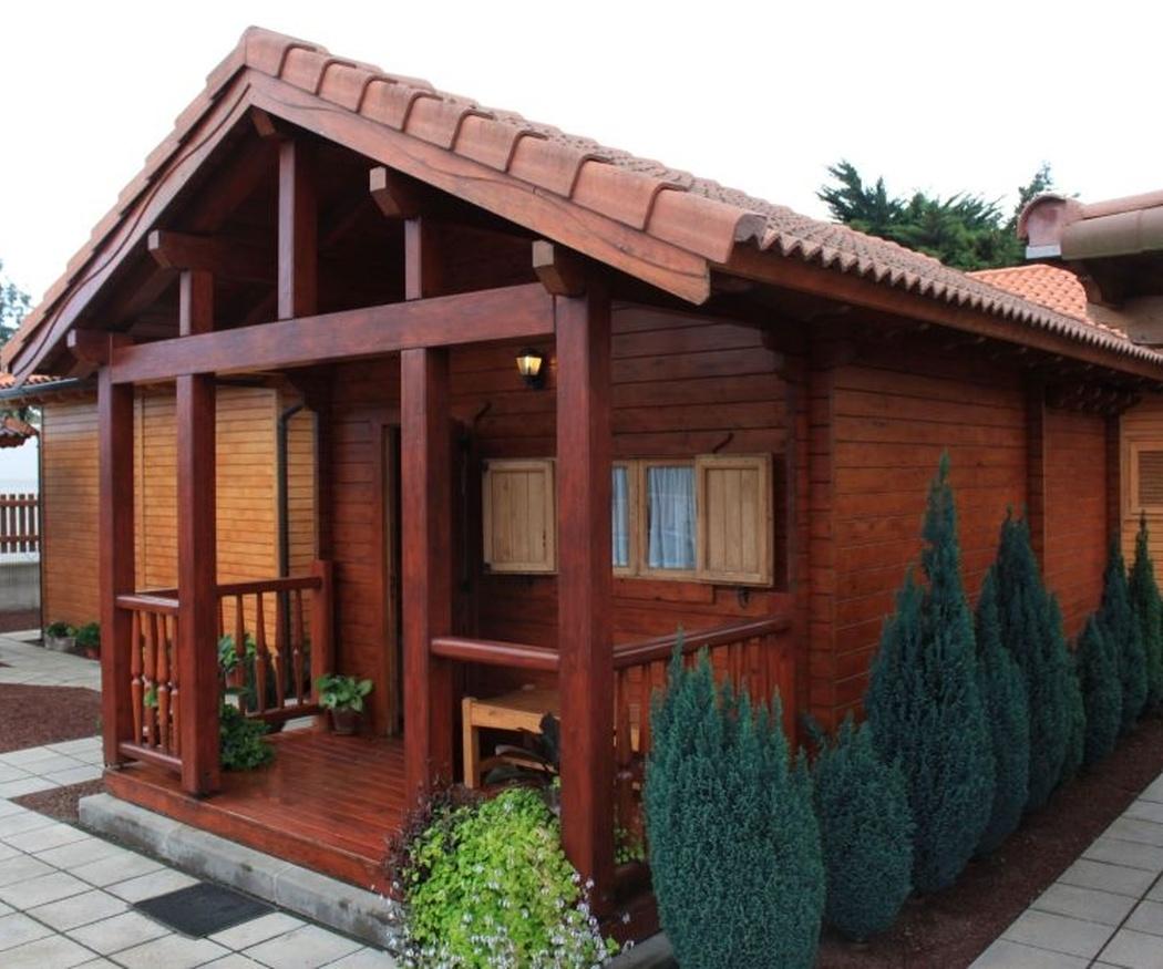 Casas de madera para los turistas