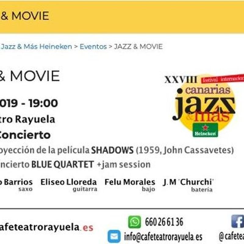 JAZZ & MOVIE – FESTIVAL CANARIAS JAZZ HEINEKEN 2019: Programación de Café Teatro Rayuela