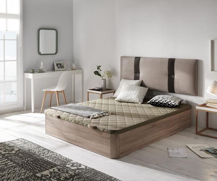 Canapé madera Goya Cambrian+cabezal tapizado Calpe